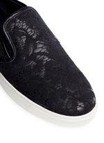 Taormina lace leather skate slip-ons