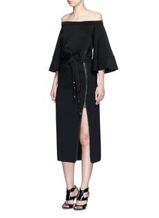 MATICEVSKI'Inventor' exposed zip skirt