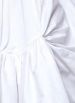 'Tonalist' ruffle poplin halterneck dress
