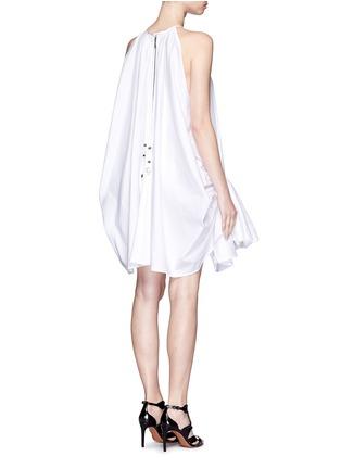 Back View - Click To Enlarge - Maticevski - 'Tonalist' ruffle poplin halterneck dress