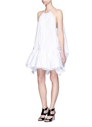 模特儿示范图 - 点击放大 - MATICEVSKI - TONALIST褶裥荷叶边混棉连衣裙