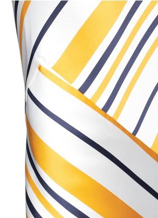 Detail View - Click To Enlarge - Maticevski - 'Brilliance' stripe bias cut skirt