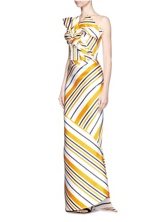 Figure View - Click To Enlarge - Maticevski - 'Brilliance' stripe bias cut skirt