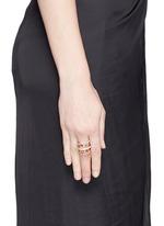 'Venus' diamond 18k rose gold five link ring