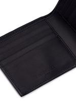 'Arena' stud grainy leather bifold wallet