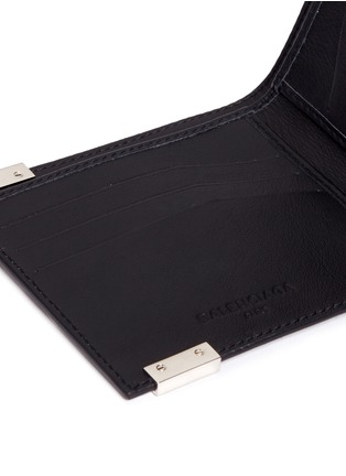 Detail View - Click To Enlarge - Balenciaga - 'Phileas' marble print leather bifold wallet