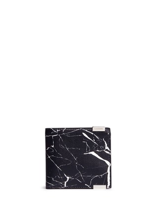 Main View - Click To Enlarge - Balenciaga - 'Phileas' marble print leather bifold wallet