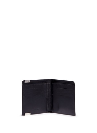 Figure View - Click To Enlarge - Balenciaga - 'Phileas' marble print leather bifold wallet