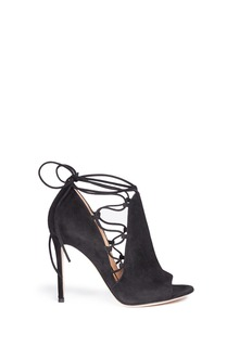 GIANVITO ROSSI 'Jennie' cutout lace-up suede sandal boots