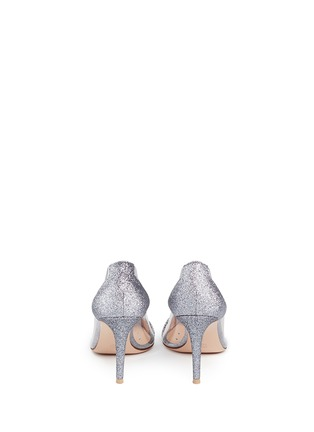 Back View - Click To Enlarge - Gianvito Rossi - 'Plexi' clear PVC glitter pumps