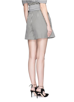 Back View - Click To Enlarge - ISA ARFEN - Wrap belt gingham print shorts