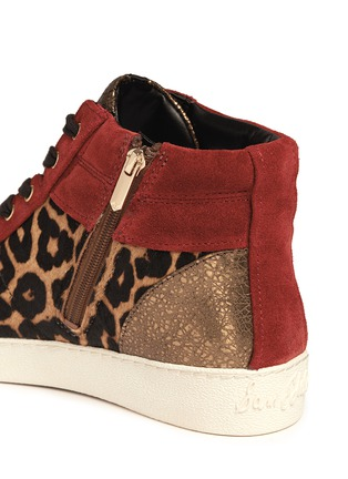 Detail View - Click To Enlarge - Sam Edelman - 'Britt' leopard calf hair leather combo sneakers
