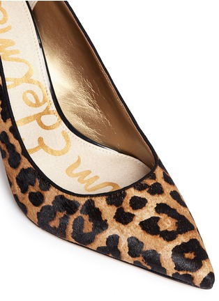 Detail View - Click To Enlarge - Sam Edelman - 'Dea' leopard print calf hair pumps