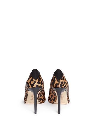 Back View - Click To Enlarge - Sam Edelman - 'Dea' leopard print calf hair pumps