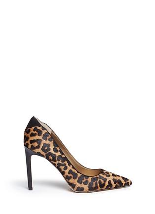 Main View - Click To Enlarge - Sam Edelman - 'Dea' leopard print calf hair pumps