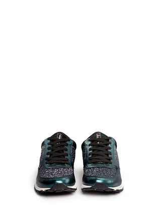 Figure View - Click To Enlarge - Sam Edelman - 'Des' metallic leather trim glitter sneakers