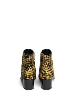 Back View - Click To Enlarge - Sam Edelman - 'Edith' plaid tweed glitter ankle boots