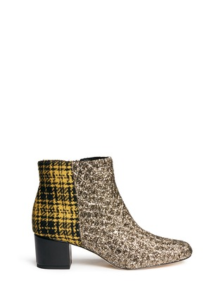 Main View - Click To Enlarge - Sam Edelman - 'Edith' plaid tweed glitter ankle boots