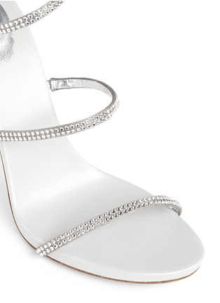 Detail View - Click To Enlarge - René Caovilla - 'Snake' strass pavé spring coil anklet sandals