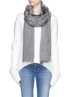 CUTULI CULT'Bustride' rabbit fur panel modal-cashmere scarf