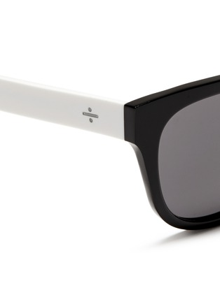 Detail View - Click To Enlarge - BLANC & ECLARE - 'Seoul' contrast temple acetate round sunglasses