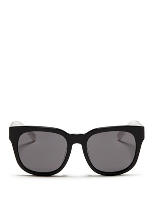 Main View - Click To Enlarge - BLANC & ECLARE - 'Seoul' contrast temple acetate round sunglasses