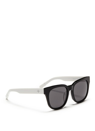 Figure View - Click To Enlarge - BLANC & ECLARE - 'Seoul' contrast temple acetate round sunglasses
