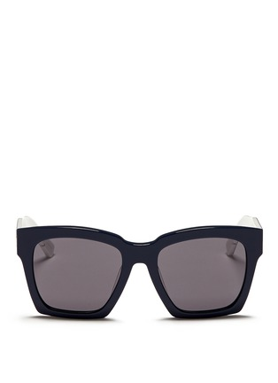 Main View - Click To Enlarge - BLANC & ECLARE - 'New York' check print temple acetate sunglasses