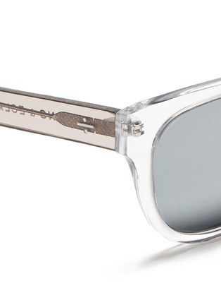 Detail View - Click To Enlarge - BLANC & ECLARE - 'Seoul' clear acetate round sunglasses