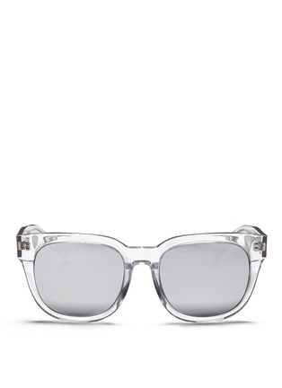 Main View - Click To Enlarge - BLANC & ECLARE - 'Seoul' clear acetate round sunglasses