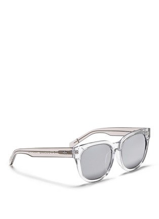 Figure View - Click To Enlarge - BLANC & ECLARE - 'Seoul' clear acetate round sunglasses