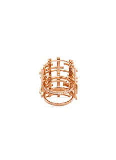 Dauphin Diamond 18k rose gold lattice ring