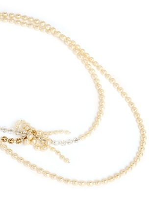 Detail View - Click To Enlarge - Miriam Haskell - Pearl dragonfly rope necklace