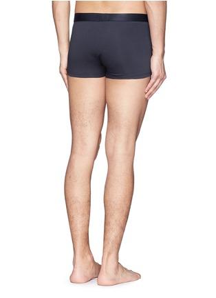 背面 - 点击放大 - SUNSPEL - 单色混棉弹力四角内裤