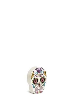Front View - Click To Enlarge - Charlotte Olympia - 'Calavera' skull crystal Perspex clutch