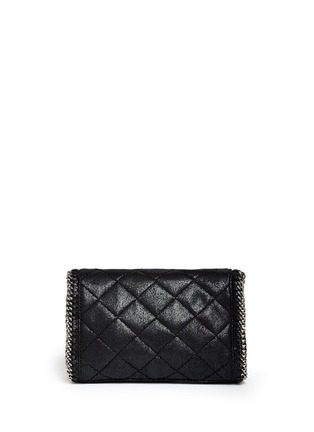Back View - Click To Enlarge - Stella McCartney - 'Falabella' mini quilted crossbody bag