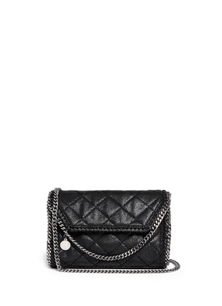 Main View - Click To Enlarge - Stella McCartney - 'Falabella' mini quilted crossbody bag