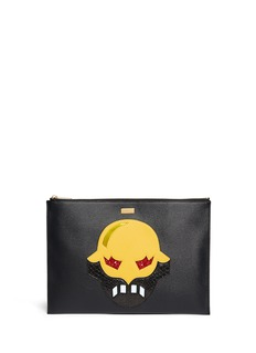 STELLA MCCARTNEY 'Stellasuperheroes' zip leather clutch