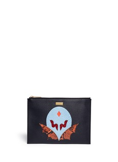 STELLA MCCARTNEY 'SuperStellaHeroes' small zip clutch