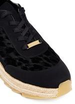 Velvet flock espadrille sneakers