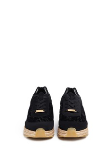 STELLA MCCARTNEY Velvet flock espadrille sneakers