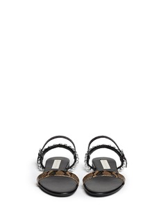 STELLA MCCARTNEY 'Jodie' crystal flat sandals