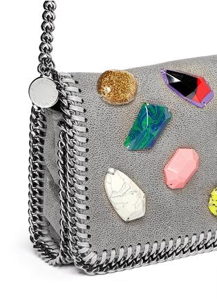 Detail View - Click To Enlarge - Stella McCartney - 'Falabella' mini gemstone crossbody bag