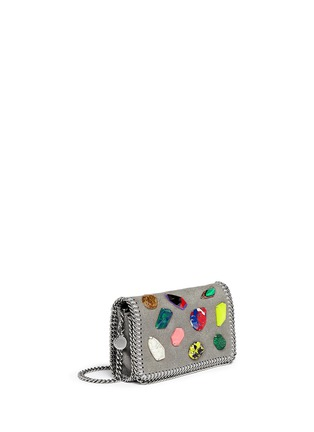 Front View - Click To Enlarge - Stella McCartney - 'Falabella' mini gemstone crossbody bag