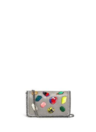 Main View - Click To Enlarge - Stella McCartney - 'Falabella' mini gemstone crossbody bag