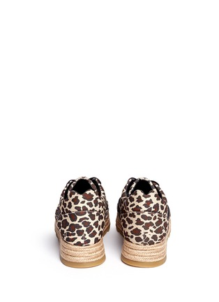 Back View - Click To Enlarge - Stella McCartney - Leopard print mesh espadrille sneakers