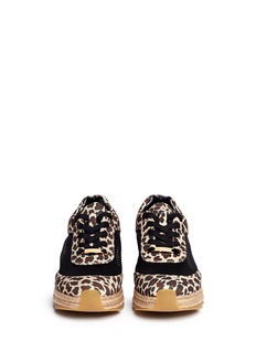 STELLA MCCARTNEYLeopard print mesh espadrille sneakers