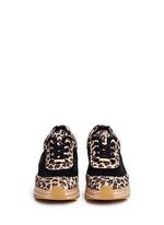Leopard print mesh espadrille sneakers