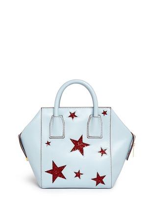 Back View - Click To Enlarge - Stella McCartney - 'Cavendish' mini glitter star tote