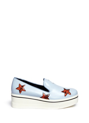 Stella McCartney - Snake effect star appliqué platform slip-ons